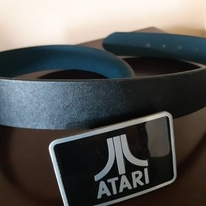 ATARI black Italian leather belt